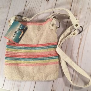 NWT Roxy cloth rainbow cotton crossbody bag
